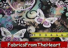 Filigree Flutter Butterflies Summer Garden BY YARDS Michael Miller Cotton Fabric