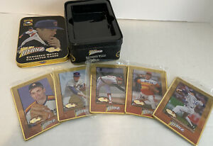 Nolan Ryan Classic The Metal Edge Embossed Metal Collector Cards in Tin Sealed c