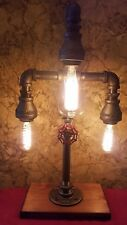 Handcrafted Industrial Pipe Lamp with a look of antique for desk,table,home deco
