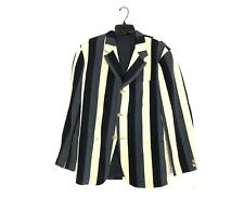 Yohji Yamamoto Pour Homme Striped Wool Blazer Coat Jacket NEW