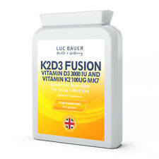 K2D3 Fusion - 90 Capsules. Made in Great Britain.