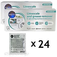 Hotpoint Lavastoviglie calcare & Detergente Remover 24 x 50g BUSTINE 2 confezioni