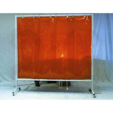 Stellwand 2 x 2,15 m rot Schweißschutzwand Schweißervorhang Schweißerschutzwand