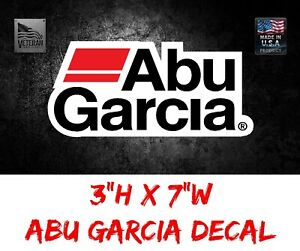 Abu Garcia Quality Decal USDM Sticker Tackle Box Lure Fishing Boat Truck trailer