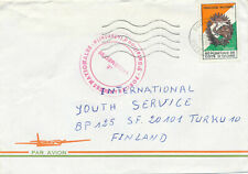 Ivory Coast 1980 a cover to Finland, a military stamp