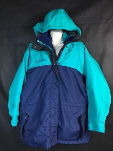 WOMEN Columbia 2 piece SKI Jacket  Coat removable Liner SZ Large RN 69724
