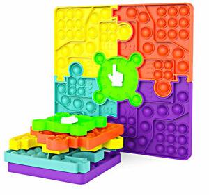 Jumbo Pop Popper it Game Chess Board,5-Color Puzzle Push Bubble Popit Fidget Toy