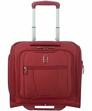 $220 NEW Delsey Helium 360 Carry-On 2 Wheeled Under seat Bag Luggage Ruby Red