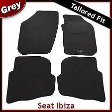 SEAT Ibiza montato su misura moquette tappetini GRIGIO (2003 2004 2005 2006 2007 2008)