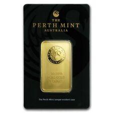 1 oz Gold Bar Perth Mint In Assay .9999 Fine - SKU #84706