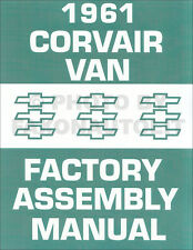 1961 Corvair 95 Factory Assembly Manual 61 Van Pickup Rampside Corvan Chevy