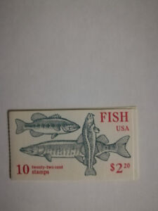 US Scott 2205-2209 FISH 22 cent unopened booklet postage STAMPS MNH