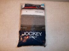 Vtg New In Package 3 Pairs Jockey Classic Full Rise Briefs Underwear Size 36