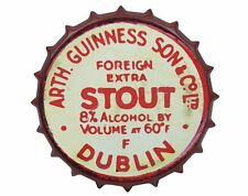 Guinness Red Vintage Metal Bottle Cap Sign Dublin Ireland Irish Wall Art New