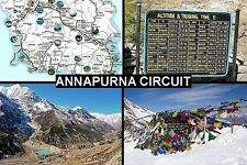 SOUVENIR FRIDGE MAGNET of THE ANNAPURNA CIRCUIT TREK NEPAL HIMALAYAS
