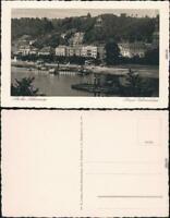 Bad Schandau Panorama-Ansicht Ansichtskarte 1928