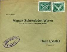 406130) DR Blg aus Bamberg mit MeF Nr. 370 (2), Mignon-Schokoladenwerke