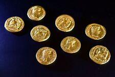 ROMAN GOLD AUREUS COPY / REPRODUCTION COIN 11 DESIGNS CAESARS cast fm originals