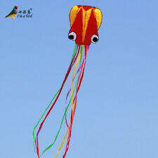 NEW 4m single Line Stunt RED-yellow color tail Octopus POWER Sport SortwareKite