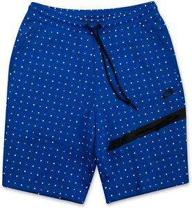 Nike Tech Fleece Polka Dots Shorts Kurzhose 642964 480 Blau L / M