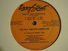 "THE PAUL SIMPSON CONNECTION TREAT HER SWEETER 12"" OG '85 ELECTRO FUNK BOOGIE VG+"