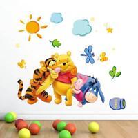 Cartoon Winnie Wall Decals Baby Nursery Kids Bedroom Stickers Art Decor Room