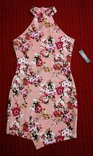 New With Tags Haute Monde Womens Large Multi-Color Floral Polyester Blend Dress