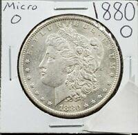 1880 O Morgan Silver Dollar Silver Coin Low Uncirculated grade Micro o VAM