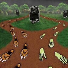 Halloween Party Decoration 2 Packs Horror Footprints - Werewolf & Skeleton