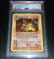 PSA 3 VERY GOOD Charizard 4/102 SHADOWLESS Base Set HOLO RARE Pokemon Card