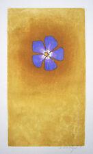 "JACQUES J. J. RIGAL Signed 1967 Original Color Etching - ""Pervenche"""