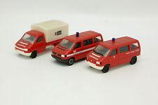 Herpa 1/87 HO - Lot de 3 VW Transporter T4 Pompiers