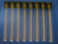 8 Glass Test Tube Tubes 25x150mm with 8 Rubber Stoppers NEW