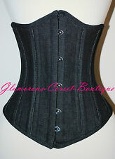 Jean Corset Underbust waist training Steel Boned Tightlacing XS-3XL