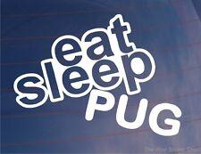 EAT SLEEP PUG Funny EURO Peugeot Car/Van/Window/Bumper/Laptop Sticker/Decal