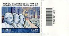 2012 francobollo Concilio Ecumenico Vaticano II DX BARRE 1508
