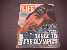 Life Magazine Augiust 18,1972 Mark Spitz Surge To Olympics Munich 14 Pg Preview