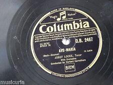78 RPM Josef Locke Ave Maria/IL ROSARIO