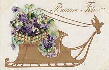 Carte postale fantaisie ancienne  carte bonne fête  No 2