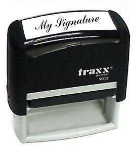 Custom SIGNATURE Self-Inking Rubber Stamp Traxx 9013
