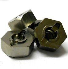 T10069 1/10 Aluminium Alloy Pin Drive Wheel Hex Hub 12mm M12 Titanium Colour x 4