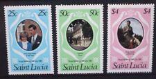 ST LUCIA 1981 QEII Royal Wedding. Set of 3. Mint Never Hinged. SG576/578.