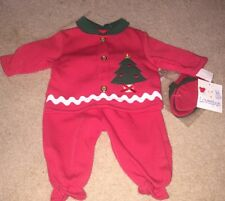 Lovespun~Vintage/New Baby Girls 3-Pc Christmas Outfit~Size 6/9 Mos
