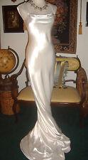 Ivory Galina Signature Jean Harlow David's Bridal Gown High Glossy Liquid Satin