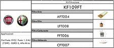 KIT TAGLIANDO 4 FILTRI FIAT GRANDE PUNTO/PUNTO EVO/MITO 1.3 MULTIJET 75HP EURO5