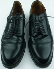 Vintage Robert Wayne Size 9 Black Leather Classic Style Platform Oxfords Italy