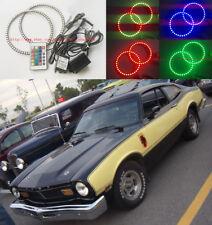 "2x RGB Multi-Color LED Angel Eyes Halo Rings For 1971 1973 1977 FORD MAVERICK 7"""