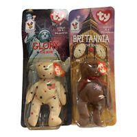 TY Beanie Babies Britannia and Glory Bear McDonalds Meal Deal Bears 1997