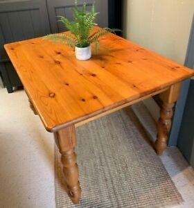 Pine Farmhouse Small Kitchen Table