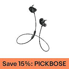 Bose SoundSport Wireless Headphones, Factory Renewed